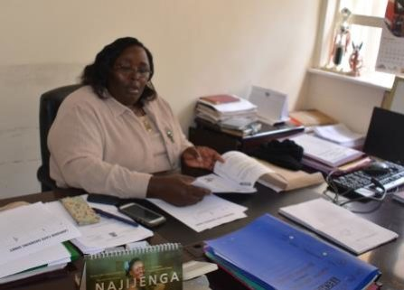 Vihiga County Commander Sarah Duncan in her office