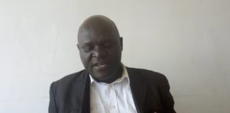 Vihiga KUPPET Executive Secretary Mr Nebert Isambe in his office at Mbale town