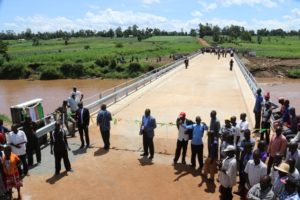 The bridge is set to ease transportation and connectivity between Matungu and Navakholo Sub Counties