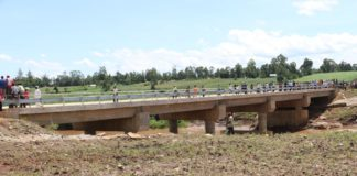 The 85-metre long bridge which was commissioned by the Kakamega County government