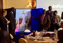 Leaders during the function, including Ministry of Education PS Belio Kipsang (centre left)