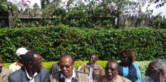 Nandi leaders addressing the press concerning the preparations for NASA's visit on Sunday