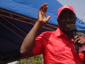 Deputy President William Ruto addressing Lugari residents