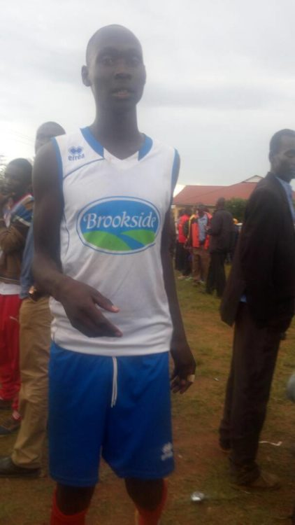 One of the players during the secondary school finals held at Bungoma High School
