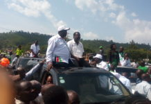 NASA leaders during the rally at Webuye in Bungoma County