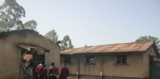 The morning fire razed down two dormitories in Naitiri Boys High School