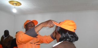 Kakamega County ODM organizing secretary Rajab Mukolwe when he received the Ford Kenya defectors
