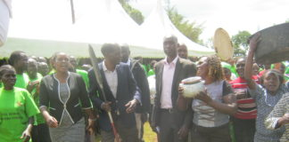 Mt Elgon MP John Serut arrives at the function