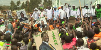 NASA leaders addressing residents at Cherangany in Trans Nzoia