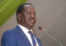 Former Prime Minister Raila Odinga. FILE PHOTO