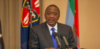 President Uhuru Kenyatta during the State of the Nation address at State House