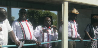 Bungoma Senatorial candidate Chrispus Wamoyo addressing Tongaren residents