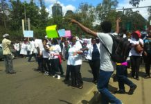 The countrywide nurses strike has paralyzed health services
