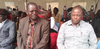 West Pokot Senator John Lonyangapuo and Kapenguria MP Samuel Moroto
