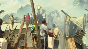 Efforts by residents and County firefighters proved futile