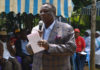 COTU Secretary General addressing mourners at Kapchemgum Village in Hamisi Constituency, Vihiga County