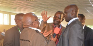 West Pokot Governor Simon Kachapin and Senator John Lonyangapuo (pictured) failed to agree on the debate venue