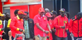 President Uhuru Kenyatta together with Deputy President William Ruto in West Pokot County