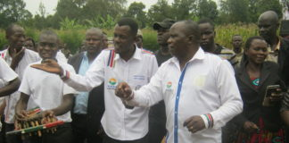 Federal party of Kenya leader Andrew Sichangi Kutitila with Kimilili parliamentary aspirant Richard Masinde Sibilibili