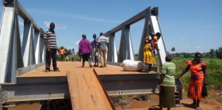 The Kuywa bridge reconstruction is nearing completion