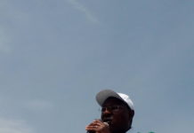 Ford Kenya leader and Bungoma Senator Moses Wetangula addressing Webuye residents