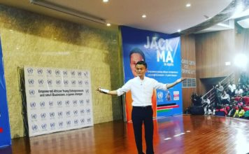 Jack Ma during his public lecture at the University of Nairobi