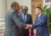 Alibaba Group founder and executive chairman Jack Ma (left) together with UNCTAD Secretary General Mukhisa Kituyi (centre) and President Uhuru Kenyatta at State House, Nairobi