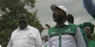 NASA co-principals Musalia Mudavadi and Moses Wetangula in Kimilili