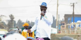 NASA leader Raila Odinga has taken an oath as the people's president
