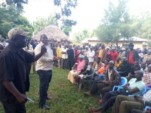 One of the residents addressing Netima locals