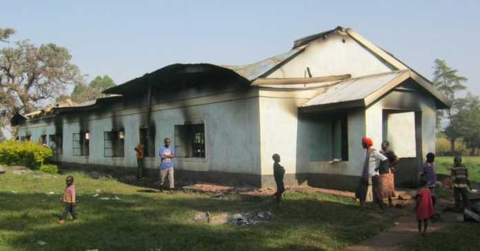 The dormitory which was gutted by fire at St Emmanuel Miruri secondary school