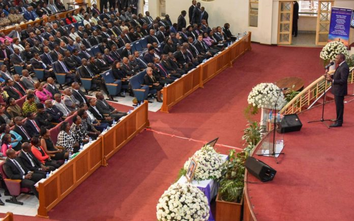 President Uhuru Kenyatta during the late Joseph Nkaissery's memorial service