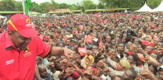 President Uhuru Kenyatta outlined projects done under his administration in Trans Nzoia County