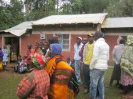 Residents gathered at the home of the late Edward Barasa