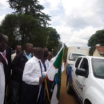 Nandi Governor Stephen Sang flagging off the dispatchment of drugs worth Kshs 60 million from KEMSA