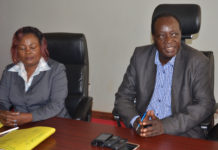 Vihiga Governor elect Wilber Otichilo addressing journalists at the County offices