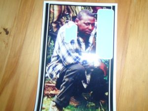 Vincent Nyongesa who disappeared mysteriously. His family is still looking for him.