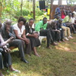 Relatives and friends condoling with the family in Kimilili