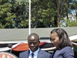 Nandi Governor Stephen Sang during the swearing in ceremony