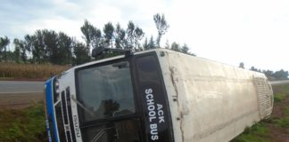 The bus which was involved in the accident