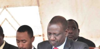 Deputy President William Ruto at Kipsebwo Catholic Church