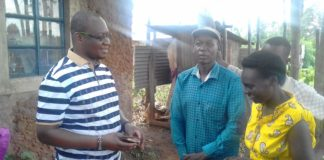 Dr. Isaac Chetambe (left) offered to help the couple