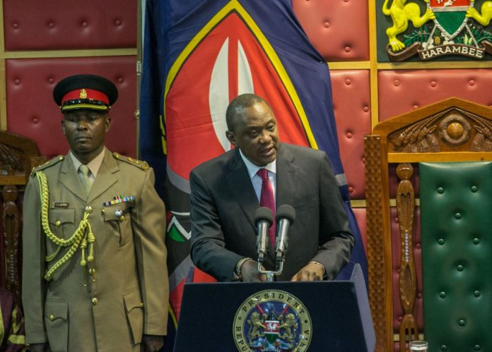 President Uhuru Kenyatta addressing the joint sitting during the opening of the 12th Parliament at Parliament buildings