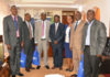 Vihiga Governor Dr. Wilber Otichilo (centre) with Kenya Medical Supplies Authourity (KEMSA) Chief Executive Officer Philip Omondi, next to the Governor on the right
