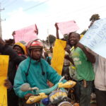 NASA supporters demonstrating in Kapenguria