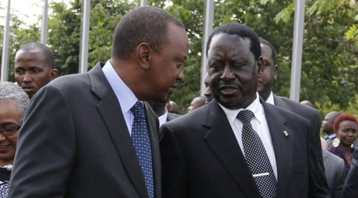 COTU boss Francis Atwoli has urged President Uhuru Kenyatta and NASA leader Raila Odinga to embrace dialogue