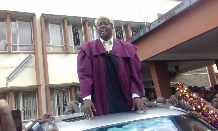 Trans Nzoia County Assembly Speaker Joshua Werunga after he was sworn in