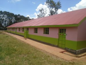 A section of classrooms renovated by Safaricom Fountation at Makutano primary school
