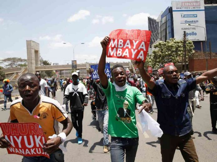 The anti-IEBC demos are set to continue on Wednesday