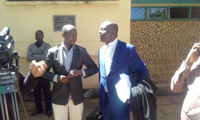 Advocate Peter Wanyama, who represents Governor Patrick Khaemba, leaving the High Court in Kitale